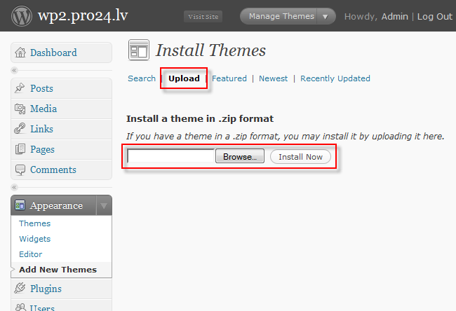wordpress_theme_upload_install
